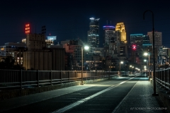 Night View from Stone Arch
